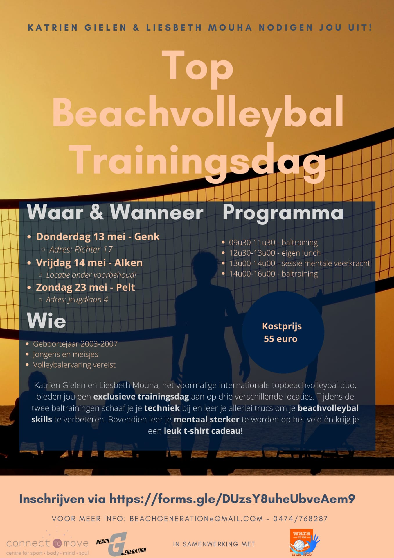 top beachvolleybal trainingsdag